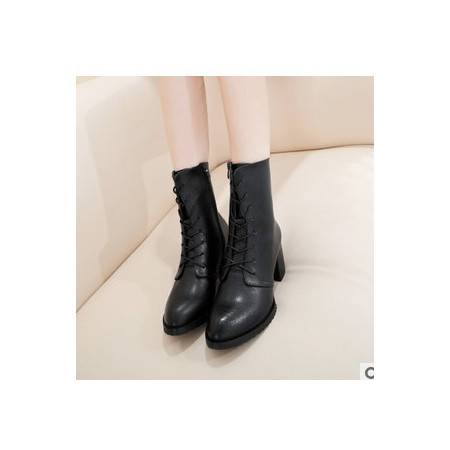 英伦女鞋骑士女靴子短靴春季新款真皮马丁靴承发包邮