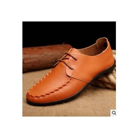 新款男士休闲男鞋洞洞鞋皮鞋豆豆鞋真皮透气承发