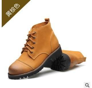 品牌女靴潮流女鞋中筒靴女士马丁靴真皮皮靴承发包邮