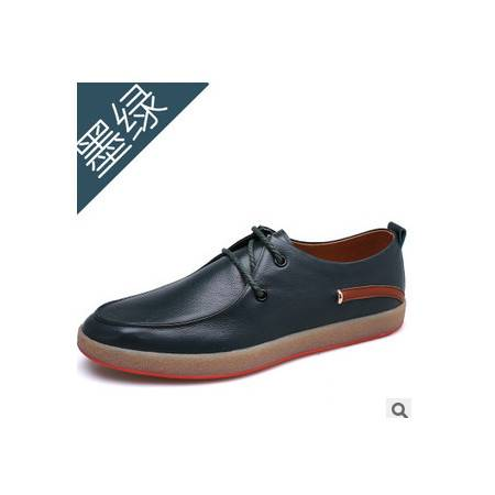 头层牛皮男板鞋潮男单鞋子春季新款休闲鞋承发包邮