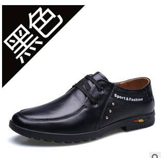 男士系带真皮商务休闲透气男鞋春季新款承发包邮