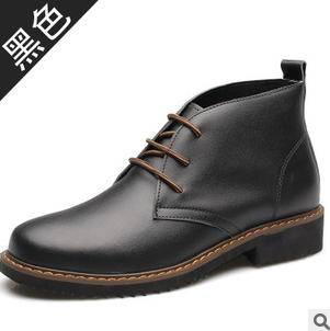 男靴中筒军靴潮流男靴新款男士皮靴真皮马丁靴承发包邮