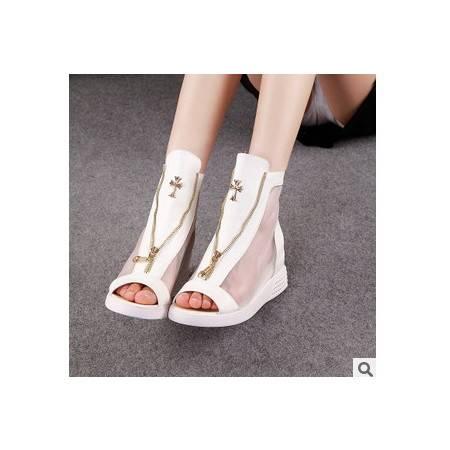 女士网纱潮流透气单鞋高跟鞋夏季新款承发包邮