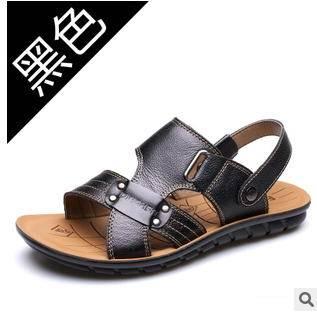 男皮凉鞋真皮凉拖鞋头层皮夏男士凉鞋夏季休闲沙滩鞋承发