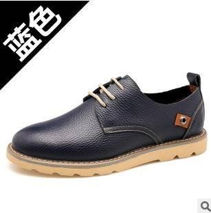 新款男式单鞋子春季休闲男鞋品牌真皮皮鞋承发