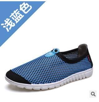 透气休闲男士懒人鞋洞洞鞋单鞋夏季新款英伦男鞋网布鞋承发