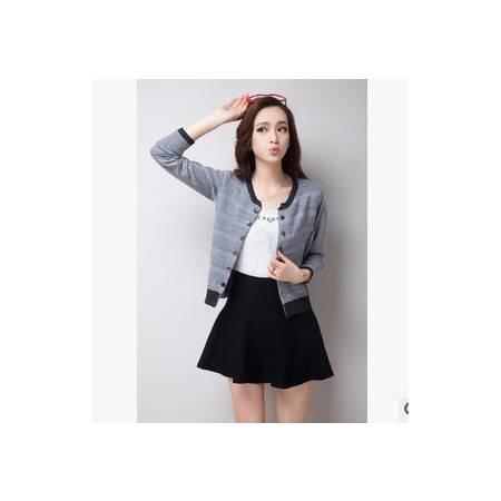 韩版毛衣短款春装新款开衫针织小外套 永飞