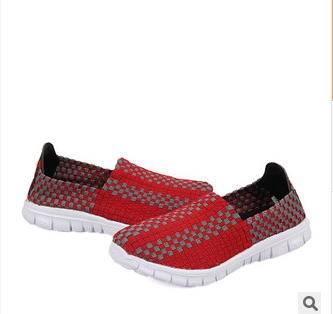 男女休闲潮鞋韩版女鞋男鞋子情侣鞋编织鞋 银锋