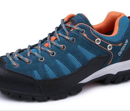 男女士情侣款低帮牛皮防滑户外鞋子户外徒步登山鞋 银锋包邮