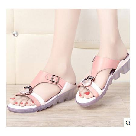 女学生平跟凉拖鞋休闲拖鞋夏季新款平底凉拖鞋