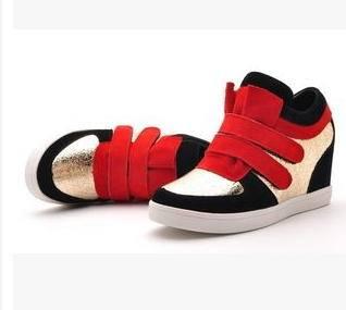 时尚内增高坡跟休闲鞋 2015春季女鞋包邮