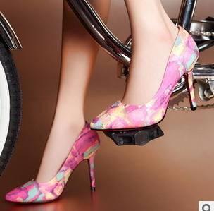 性感花纹尖头细高跟鞋2015春夏新款女鞋包邮