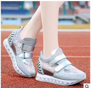 松糕鞋内增高防滑单鞋春秋新款厚底运动休闲女鞋包邮