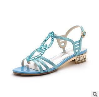 透气网纱闪亮水钻凉鞋单鞋2015新款女鞋