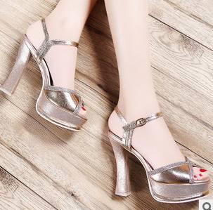 X交叉皮带扣水钻高跟凉鞋2015新款女鞋包邮