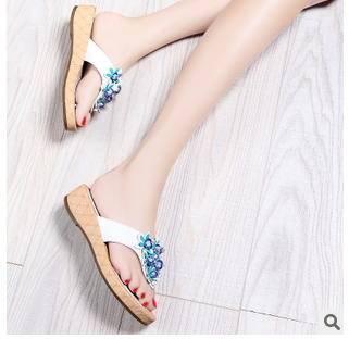 中跟夹脚凉拖女鞋子2015夏季新款公主人字拖女拖鞋