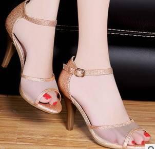 细跟凉鞋低帮女鞋2015春季新款甜美网纱鱼嘴高跟鞋
