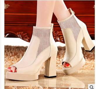 女鞋防水台粗跟鱼嘴凉鞋2015新款高跟鞋包邮