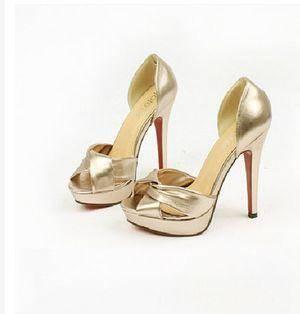 交叉绕带露趾防水台粗跟高跟凉鞋2015新款欧美明星SHOW夏季新款美高