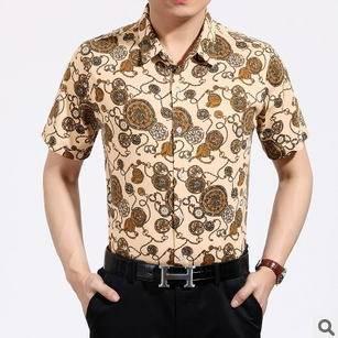 韩版短袖衬衫男式棉衬衫短袖衬衫新款男士夏款衬衫修身男衬衫永盛泰