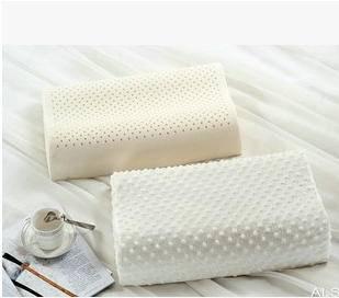高档颈椎保健护颈枕芯 太空记忆磁疗枕100%纯天然乳胶枕头幻桃包邮
