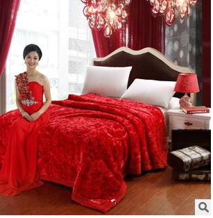 冬季超柔婚庆毛毯众多花色新款加厚拉舍尔毛毯幻桃包邮