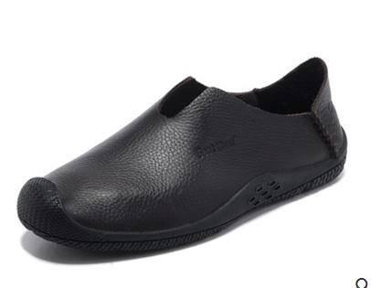休闲驾车鞋豆豆鞋男青年鞋潮夏季透气皮鞋真皮套脚懒人鞋包邮