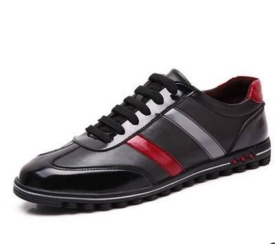 nb情侣跑步韩版运动真皮鞋子 大码黑色男鞋春夏男士休闲鞋包邮