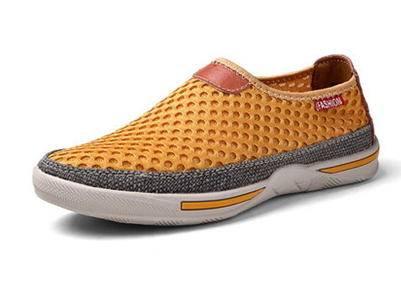 套脚网布网纱透气真皮懒人鞋子夏季低帮网鞋运动休闲男鞋包邮