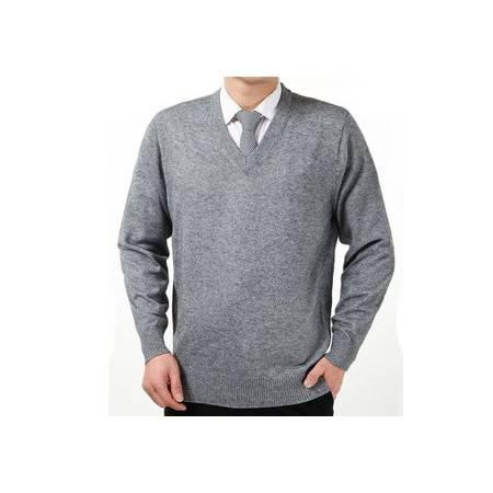男士羊绒衫鸡心领外套加厚V领羊毛衫男式装毛衣潮秋冬季新款祥盛