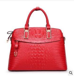 手提包欧美时尚斜跨包贝壳包品牌女包2014春款潮流鳄鱼纹真皮女包新安雅包邮