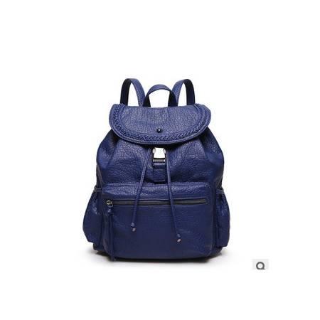 休闲旅行包书包旅游背包新款韩版潮流时尚水洗皮双肩背包女包新安雅