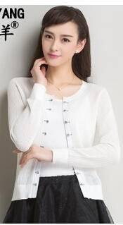 春夏新款镂空针织开衫 韩版大码空调衫披肩外套洪合