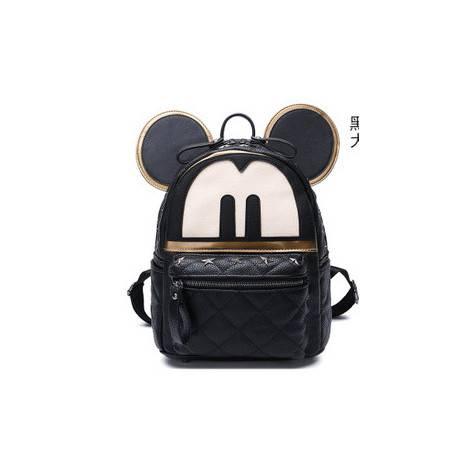 米奇卡通背包铆钉书包女韩版潮新款双肩包旅行包华大