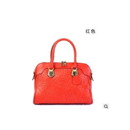 包包女士贝壳包 秋冬新款花纹真皮女包手提包国际品牌女包 华大包邮