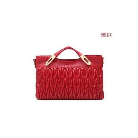 春季新款女士包包欧美品牌手提包单肩女包头层牛皮绣花女包华大包邮