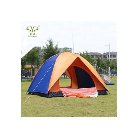 防雨露营帐篷005户外3-4人双层户外休闲旅游双开门帐篷 拓步