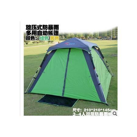 户外装备德国正品自动野营帐篷3-4人帐篷双层多人帐篷自动拓步包邮