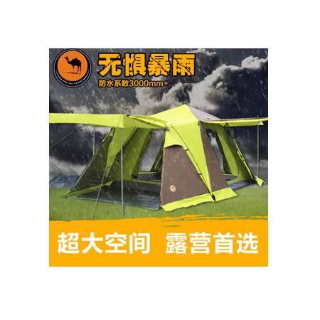 户外3-4人多人野营四方顶四门带雪群型户外帐篷带厅拓步包邮