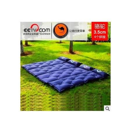 户外露营午休充气垫防潮垫3.5CM厚骆驼加厚单人可拼接自动充气垫不可退换货拓步