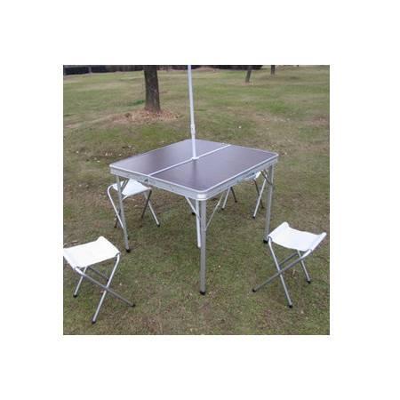 麻将桌 手提箱折叠桌户外野餐桌 铝合金分体四方折叠桌 拓步