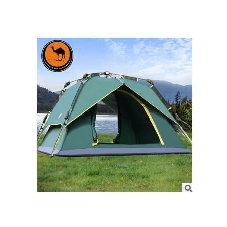 超大空间野营帐篷R01骆驼户外帐篷3-4人旋压式自动帐篷多人 拓步