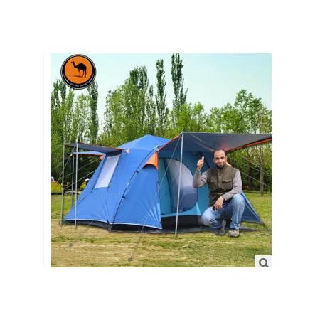 户外自动双层3-4人野营帐篷四方顶户外帐篷防暴雨帐篷088拓步包邮