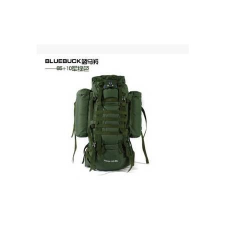专柜正品登高者登山包65+10L 75L背包背包 多用可拆卸 蓝马羚 拓步