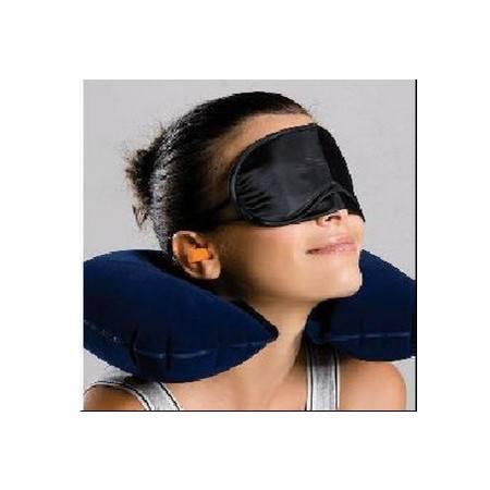 加厚植绒U型充气枕头户外旅游颈椎护颈枕旅游三宝 旅行充气枕 不可退换货拓步