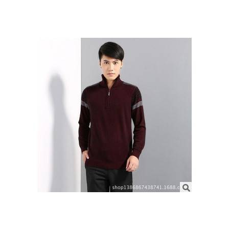 男式针织毛衣冬装新款男士毛衣 潮牌青年休闲拉链高领貂绒外套男莫菲包邮