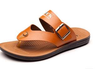 2015新款男士凉鞋透气夹趾人字拖夏季沙滩鞋休闲皮凉鞋子男潮卡劲