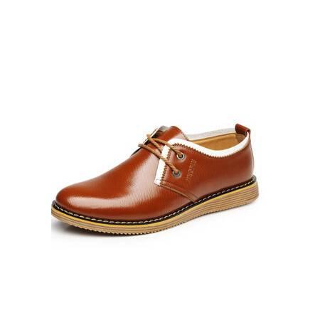 男士增高鞋真皮正品隐形内增高6厘米韩版男鞋夏季系带休闲鞋卡劲