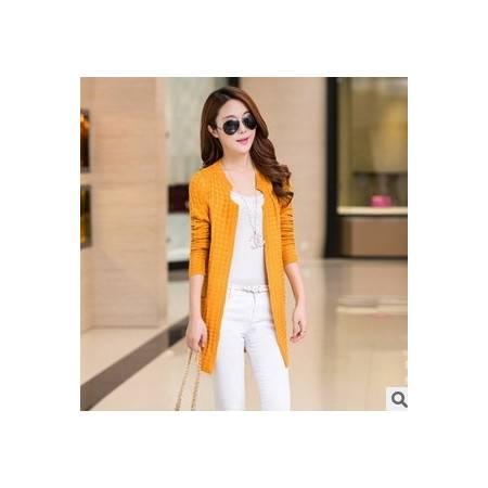女 韩版女装口袋针织衫开衫外套秋冬季 新款毛衣洪合