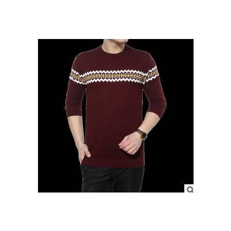 爆款男式长袖圆领针织衫新款秋季打底外套毛衣青年时尚针织T恤尊霸包邮
